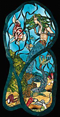 Underwater Mermaid Scene Gilbertson 39 S Stained Glass