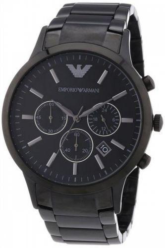 Emporio Armani Herren Uhr AR2453 Edelstahl schwarz Chronograph - http://uhr.haus/unbekannt/emporio-armani-herren-uhr-ar2453-edelstahl