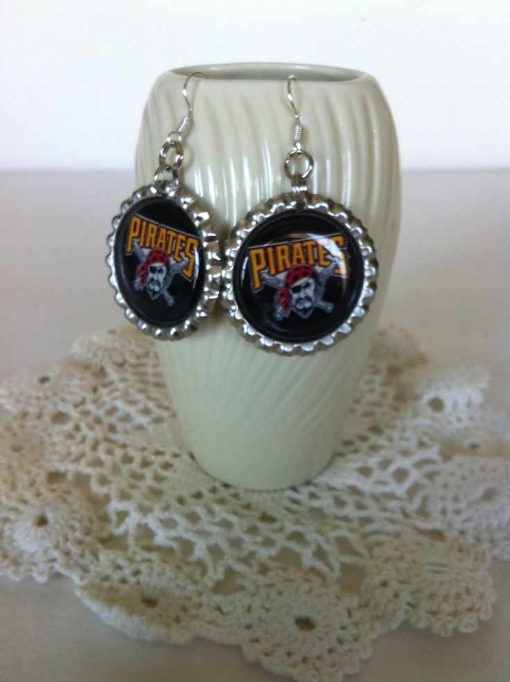 Pittsburgh Pirates earrings from my Etsy shop https://www.etsy.com/listing/224723481/pittsburgh-pirates-earrings-pittsburgh