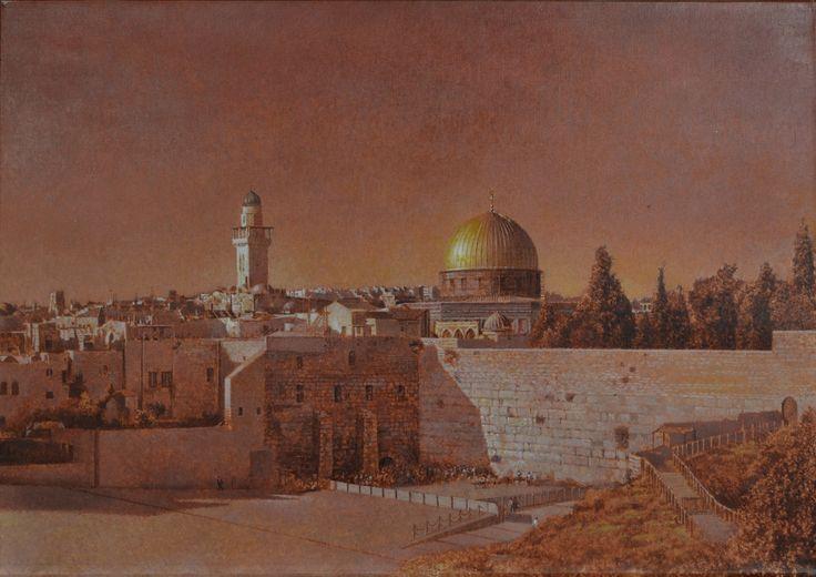 Gerusalemme-olio su tela di ANGELO VADALA'