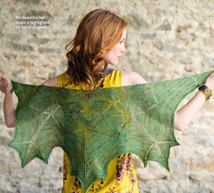 Maple Leaf Shawl by Maria Magnusson. Read more about it on my blog: http://knittingkonrad.com/2014/09/16/the-knitter-issue-76-a-review/