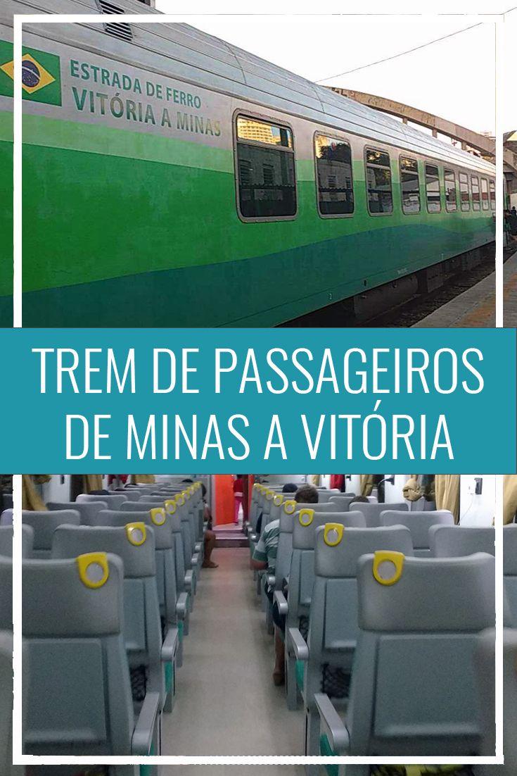 Viagem de trem no Brasil. Ferrovia da Vale de Vitória a Minas. Trem de passageiros BH a Vitória. Minas Gerais e Espírito Santo.