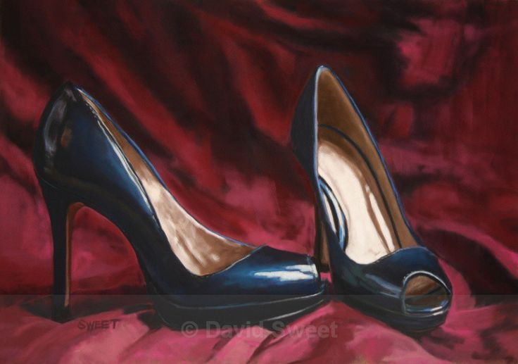 Still Life with Blue Shoes - Paintings