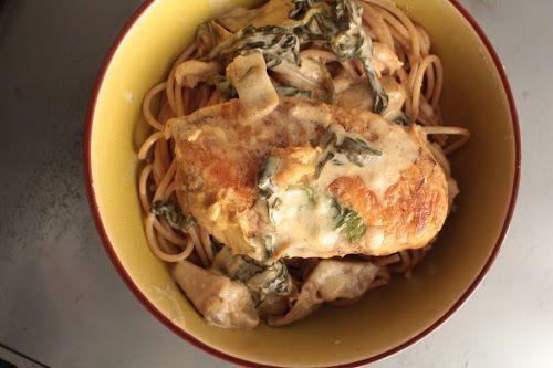 Eatcleanqueen.nl || Foodblog vol met recepten en culinaire uitstapjes!: (Low Carb) Kip met romige spinazie & artisjok
