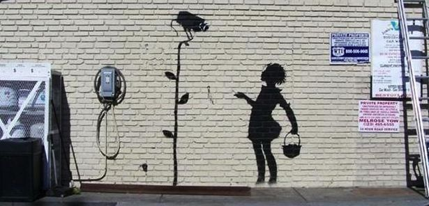 Banksy flower girl sells for 209 000 at auction uk for Banksy mural sold