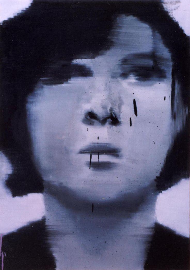L'onda giovane dei capelli/2003/olio su tela, cm 60x45
