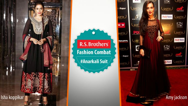 #FashionCombat Unveil the real traditional Diva in you, by wearing Designer #AnarkaliSalwar Suit!  These kind of Anarkali Salwar Suit always gives a special look in every event. Most of all mega Celebrities give their first preference for these traditional attires to grab all eyes on them! By the way in both actresses #Ishakoppikar and #AmyJackson who's looking more gorgeous in Anarkali Salwar Suit? Share your opinion in comments. (Image copyrights belong to their respective…