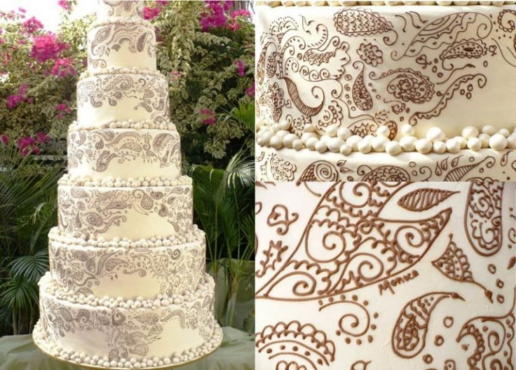 N Mehndi Cake : 46 best mendhi and cinifan cakes images on pinterest amazing