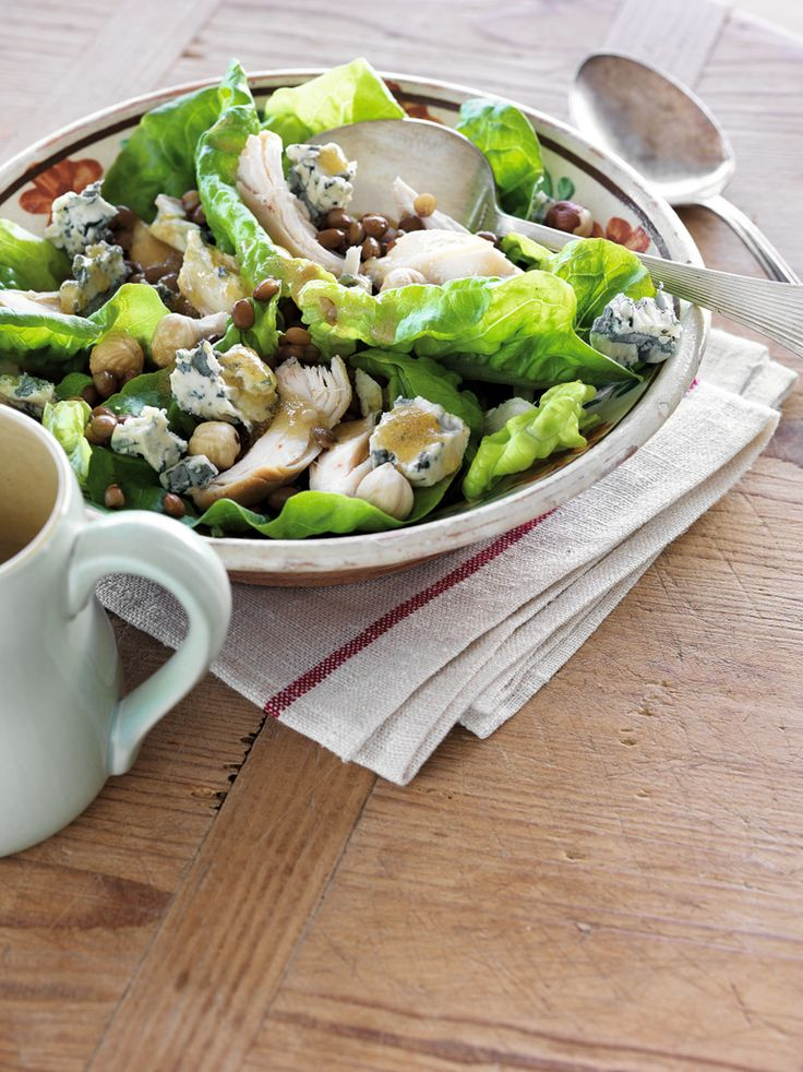Chicken, Hazelnut & Blue Cheese Salad with French Dressing