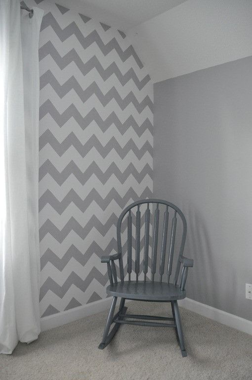 Best 25 striped painted walls ideas on pinterest for Chevron template for walls