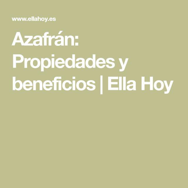 Azafrán: Propiedades y beneficios | Ella Hoy