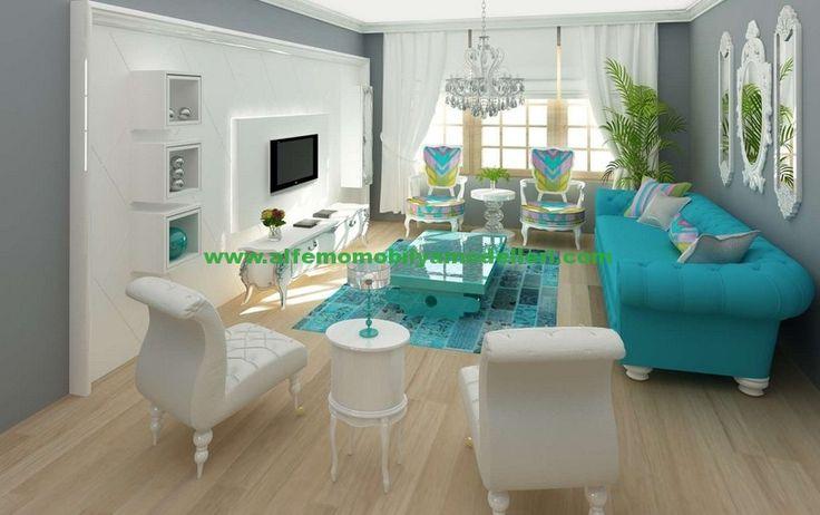 2016 Alfemo Modern Mavi Oturma Grubu Takımları