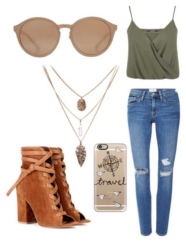 Untitled #53 by danifrancis on Polyvore featuring polyvore, fashion, style, Miss Selfridge, Frame Denim, Gianvito Rossi, Linda Farrow, Casetify and clothing