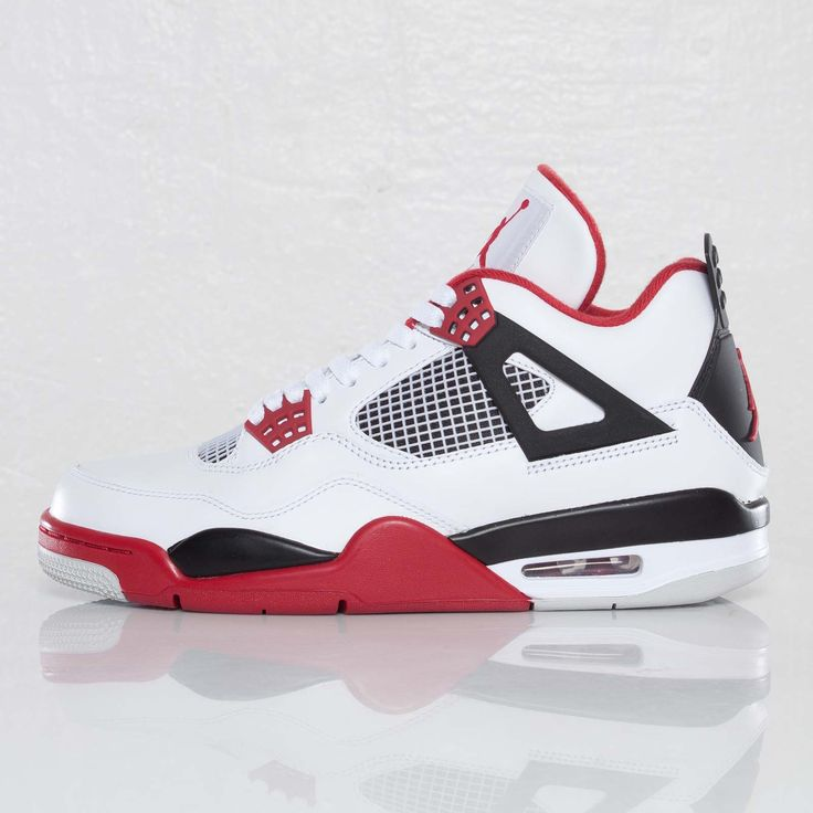 Air Jordan 4 Fire Red, this Jordan 4 features the color way of the Chicago  Bulls, particularly this pair has another similar shoe but features the  blackmon ...