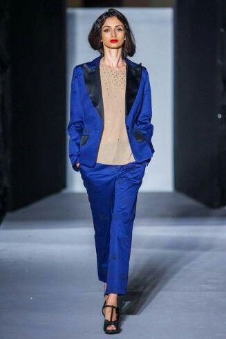 Wonderland by Lavinia Ilies electric blue proper tailored american cut