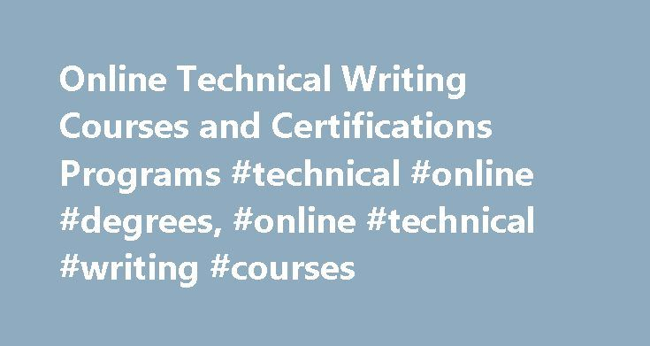 Technical writing certification programs Research paper Writing Service