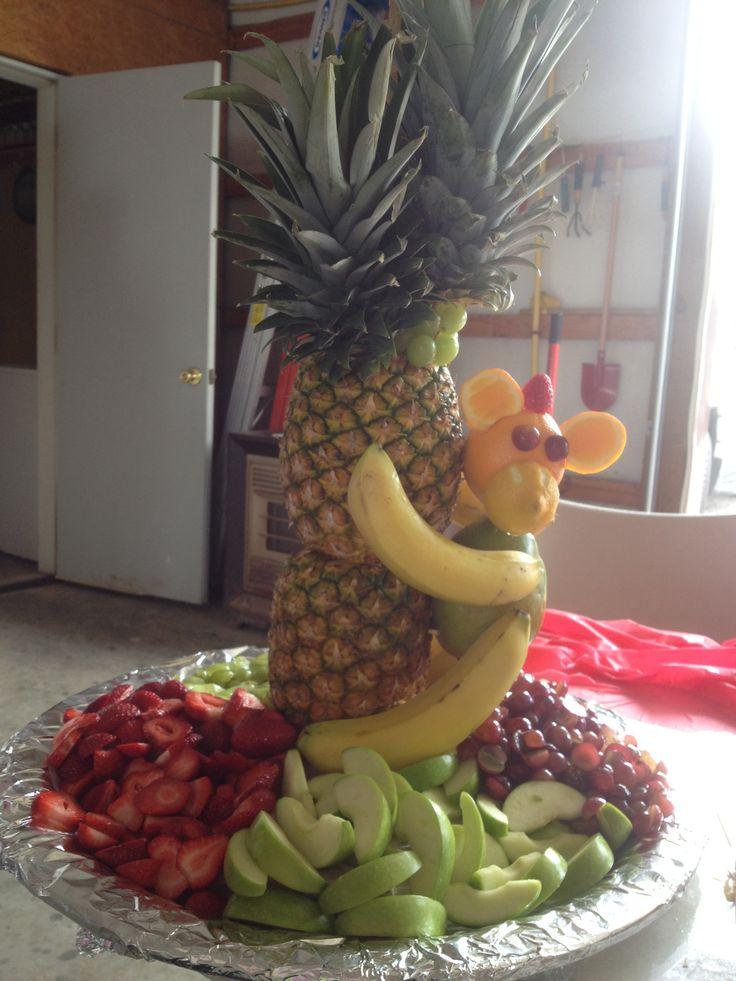 Monkey In A Tree Fruit Tray Shower Pinterest Trees