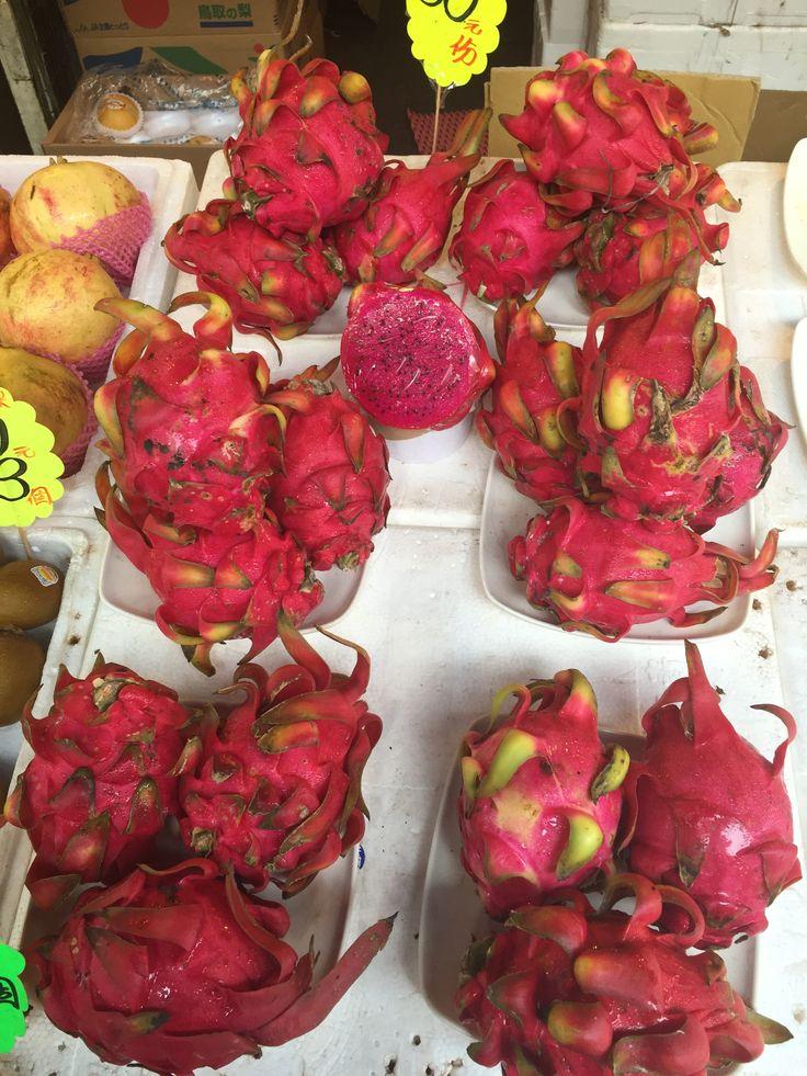 Pitahayas o Dragon Fruit, Hong Kong, China