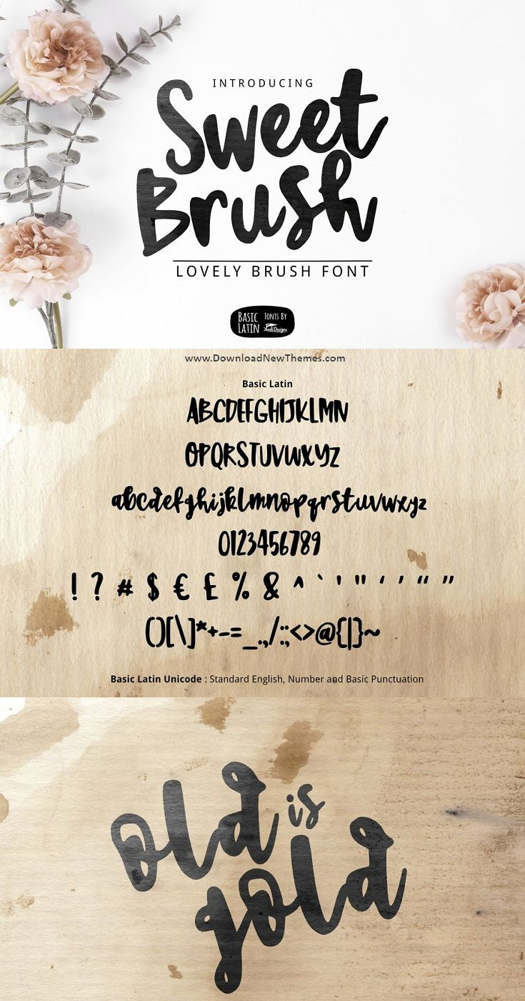 Sweet Brush Font Brush Font Creative Fonts Fonts