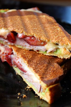 Shoutout to @Shannon Russ for pinning this Christmas Inspired Panini with avocado, ham, cherries and cheese! A great way to use your holiday feast leftovers.