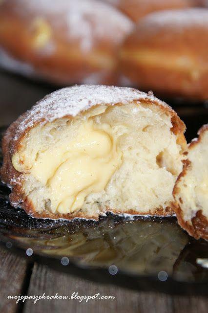 moje pasje: Bomboloni - włoskie pączki z waniliowym crème pâtissière