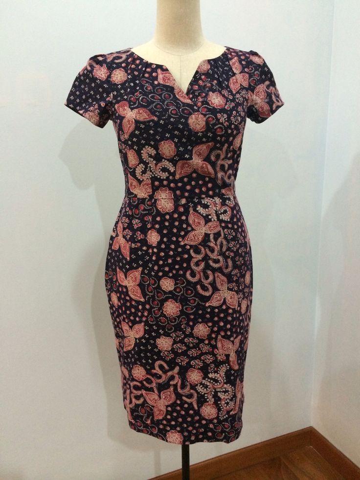 Alegra dress made from batik tulis Lasem. Dress is made by Dongengan (Facebook: https://m.facebook.com/dongengan)