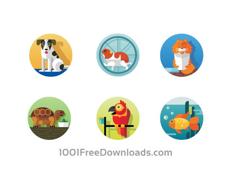 Free Vectors: Pets icons | Animals
