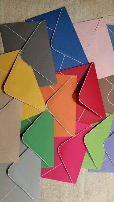 Squeel with happiness at so many wonderful colours #handmade envelopes