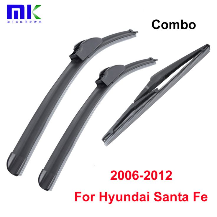 Combo Front And Rear Wiper Blades For Hyundai Santa Fe 2006-2012 Silicone Rubber Windscreen Windshield Wipers Car Accessories