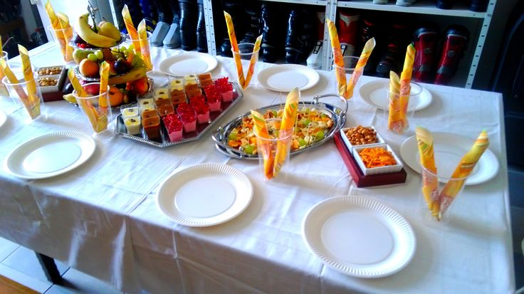 My party with my friends, Snacks, Cheese, Pana Cotta, Fruits, Mexicorn of course