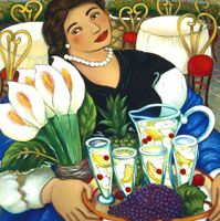 Linda Carter Holman - Berries and Cherries - Signed - Free Shipping