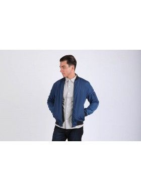 QuarterLife Clothing Blue Bomber Jacket. Buy @ http://thehubmarketplace.com/Bomber-Jacket-Blue