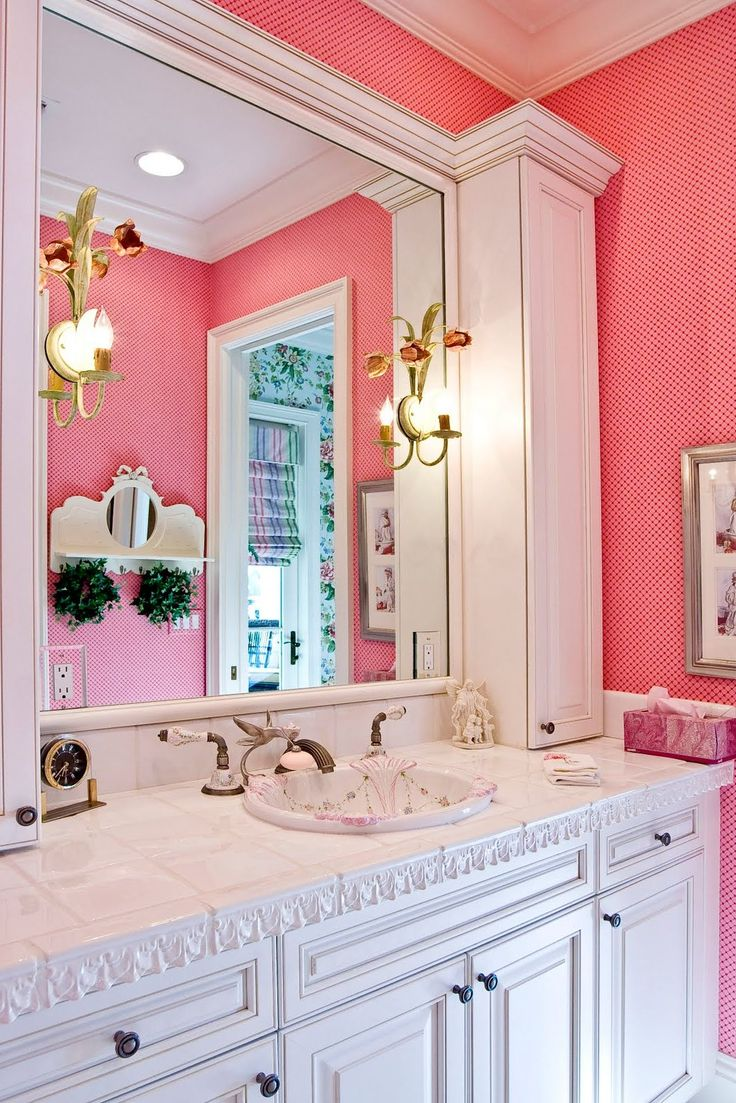 enchanting pink ceiling bathrooms | 309 best images about Pink Bathrooms on Pinterest ...