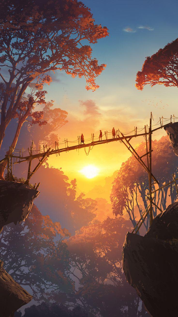 HD PHONE WALLPAPER [1080X1920] Landscape art, Anime