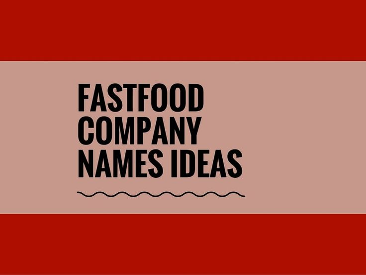 While your business may be extremely professional and important, choosing a creative company name can attract more attention.A Creative name is the most important thing of marketing. Check here creative, best Fastfood company names ideas for your inspiration.
