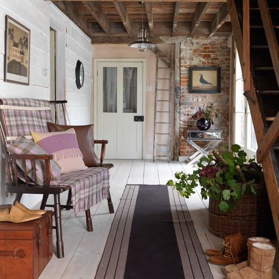Country Home Foyer Decorating Ideas : Images about country cottage entrance hall stairway