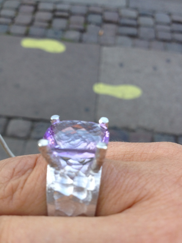 My favourite ring, it's a big amethyst in a massiv silver ring