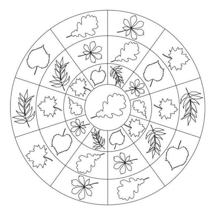 16 best mandale images on pinterest mandala coloring for Fall mandala coloring pages