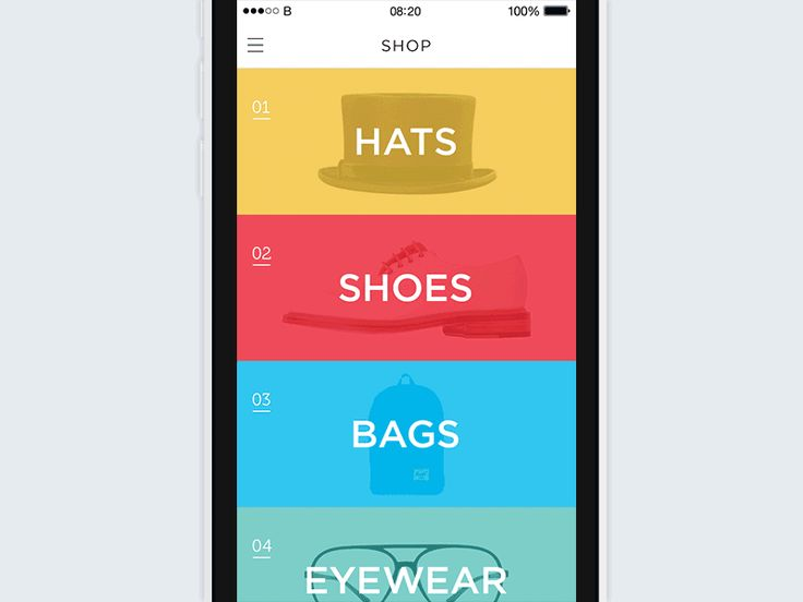 Shop 360 Immersive Mobile E-Commerce App | Motion Graphics in Flat UI Design
