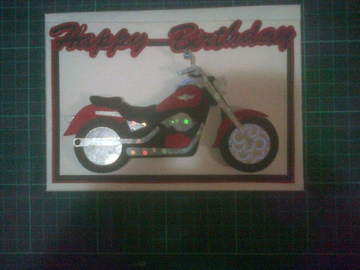 Motorcycle card using Silhouette