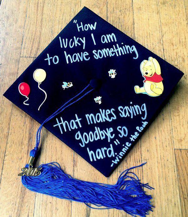 Winnie The Pooh Graduation Cap.