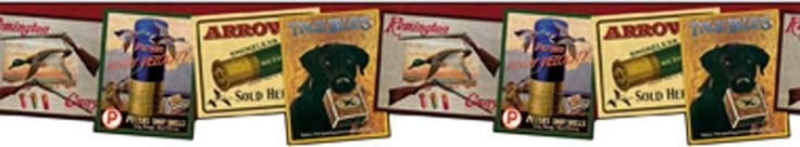 Remington Signs Wallpaper Border - Red