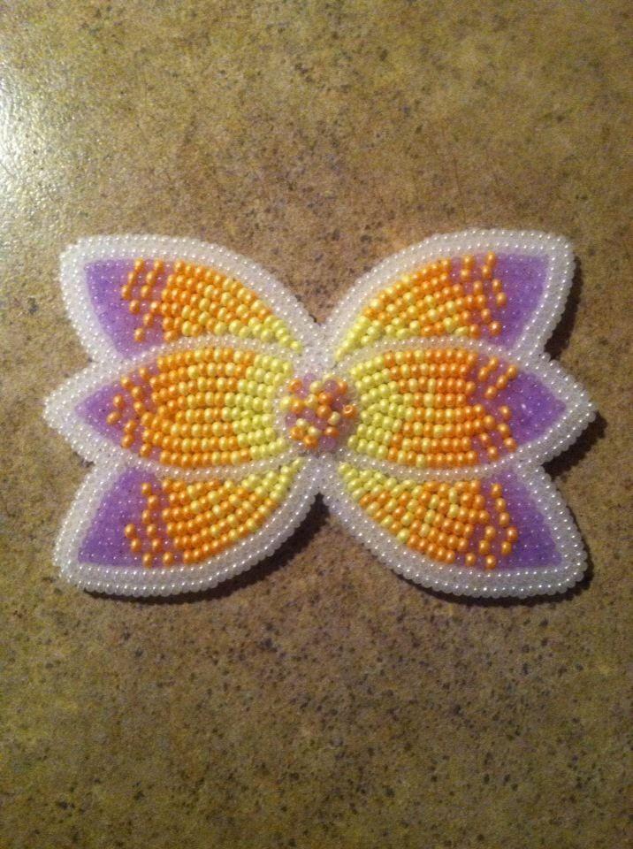 Beautiful Native American beaded hair clip made by Mama Longlegz (Summer Peters) Beautiful colors