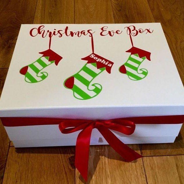 Cute Christmas Idea Kissourcraftmason Via Instagram Kissourcraftmas Decorate An Personalised Christmas Eve Box Christmas Eve Box Christmas Eve Box For Kids