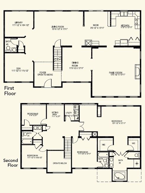Incredible 7 Bedroom House Plan Floor Inspirational 4 Bed Awesome New 2 Story With Master Secon 4 Bedroom House Plans Bedroom House Plans 6 Bedroom House Plans
