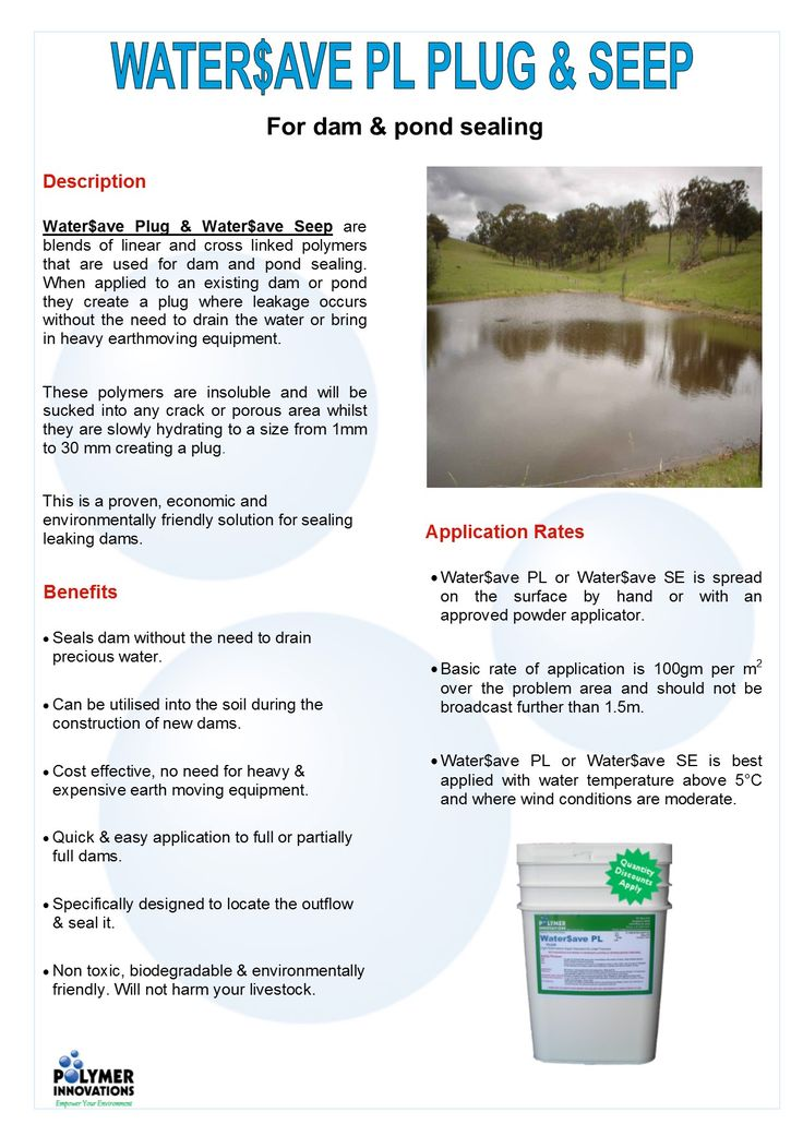 GOT A LEAKING DAM OR POND? We can help! Try Water$ave Plug or Seepage today!   #Leaking #Dam #Pond #Water #DIY #Cheap #Environmentally #Friendly #Soil #Farm #Agriculture