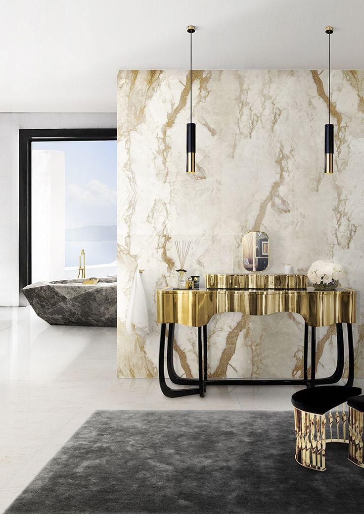 Фото из статьи: Записки дизайнера: 5 ванных комнат в стиле ар-деко