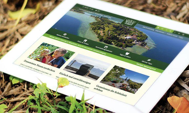Farbenprächtig und informativ: die Website der Blumeninsel Mainau  Die Insel Mainau gehört zu jeder Jahreszeit zu den touristischen Highlights am Bodensee. Die neue Responsive Website von fsb/welfenburg spiegelt das wider – farbenprächtig und informativ.