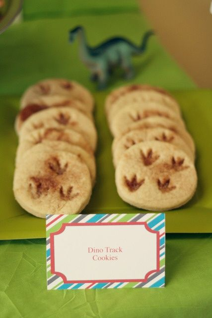 Dino track cookies @ Happy Learning Education Ideas