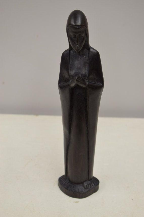 Statue Ebony Madonna Female African Sculpture by WorldofBacara